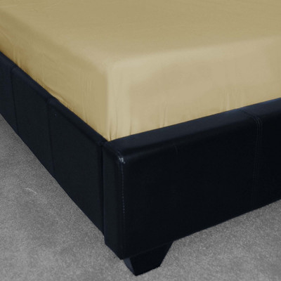 Polycotton Plain Cream Fitted Sheet (150 Thread Count)