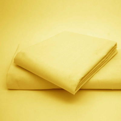 Percale Plain Lemon Fitted Sheet (180 Thread Count)