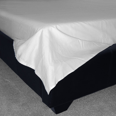 400 Thread Count White Egyptian Cotton Flat Sheets