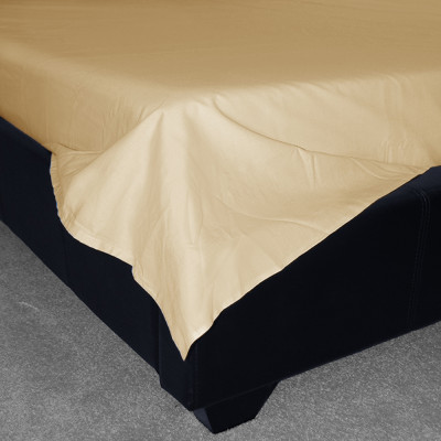 400 Thread Count Cream Egyptian Cotton Flat Sheets