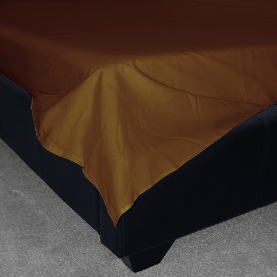 Brown Percale Plain Flat Sheet (180 Thread Count)