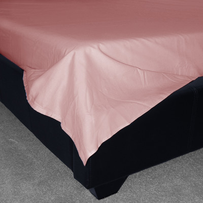 Pink Percale Plain Flat Sheet (180 Thread Count)