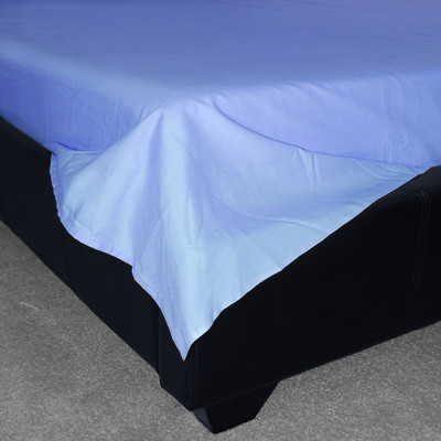 Sky Blue Percale Plain Flat Sheet (180 Thread Count)
