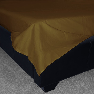 Walnut Percale Plain Flat Sheet (180 Thread Count)