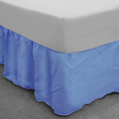 Sky Blue Polycotton Base Valance