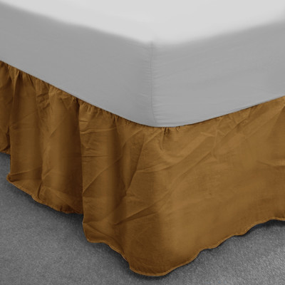 Walnut Polycotton Base Valance