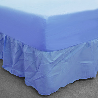 Sky Blue Polycotton Fitted Valance (150 Thread Count)