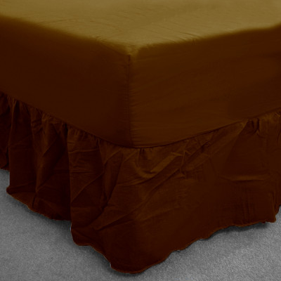 Brown Percale Fitted Valance (180 Thread Count)