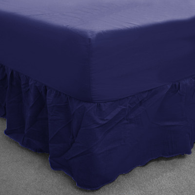 Navy Percale Fitted Valance (180 Thread Count)