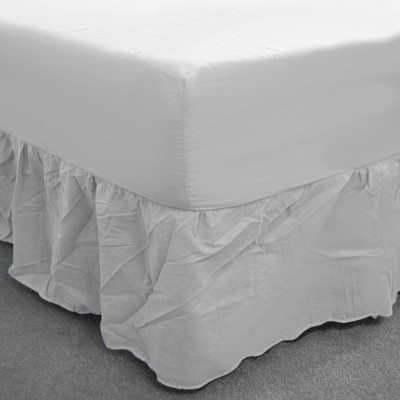 White Percale Fitted Valance (180 Thread Count)