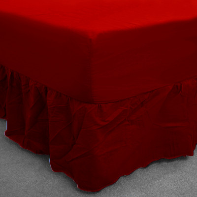 Wine Percale Fitted Valance (180 Thread Count)