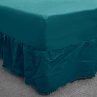 Teal  Percale Fitted Valance (180 Thread Count)