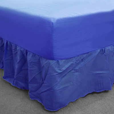 Blue Percale Fitted Valance (180 Thread Count)