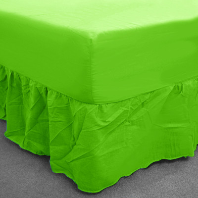 Summer Green  Percale Fitted Valance (180 Thread Count)