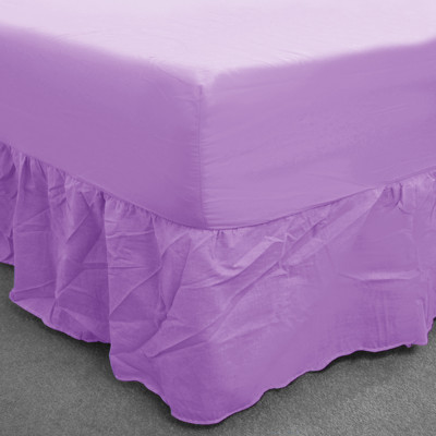 Lilac  Percale Fitted Valance (180 Thread Count)