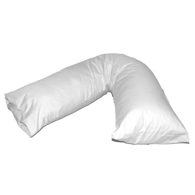 V-Shaped White Pregnancy Orthopaedic Pillow Cases