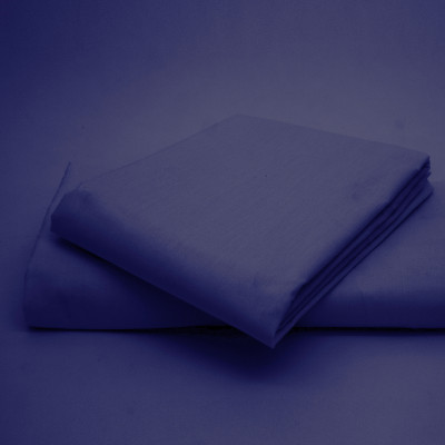 Polycotton Percale Navy Housewife Pillow Cases( 180 Thread Count)