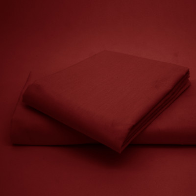 Polycotton Percale Wine Housewife Pillow Cases( 180 Thread Count)