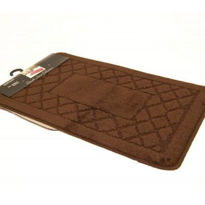 Chocolate 2Pc Plain Bath Mat Set
