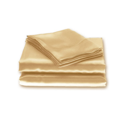 Cream Plain Satin Fitted Sheets