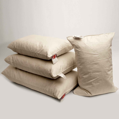 Duck feather Oblong cushion pads in a Pack of 4