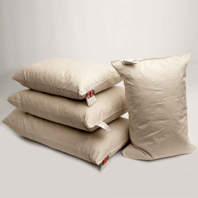 Duck feather Oblong cushion pads in a Pack of 10