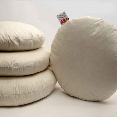 Duck feather Round Cushion pads in Pack of 6