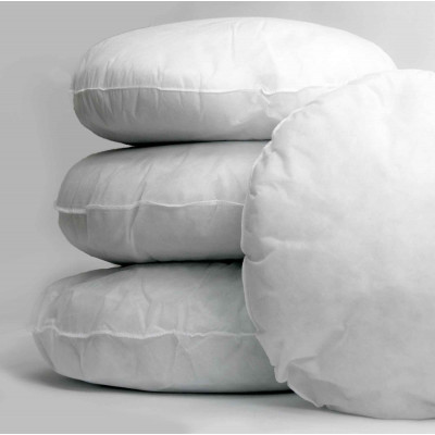 Polyester hollow fibre Round Cushion Pads in Pack of 2