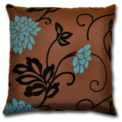 California  Floral Teal Filled Cushions