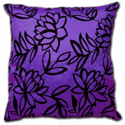 Sarah Faux Silk Purple Cushion Cover