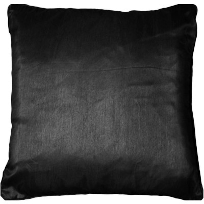 Jasmine Faux Silk Black Cushion Cover