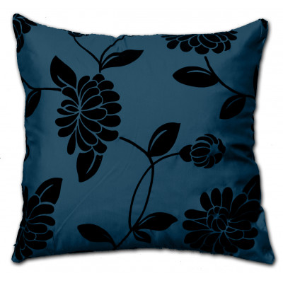 Alison Faux Silk Blue Cushion Cover