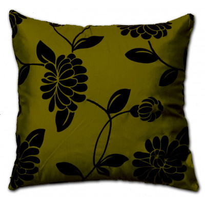 Alison Faux Silk Green Cushion Cover