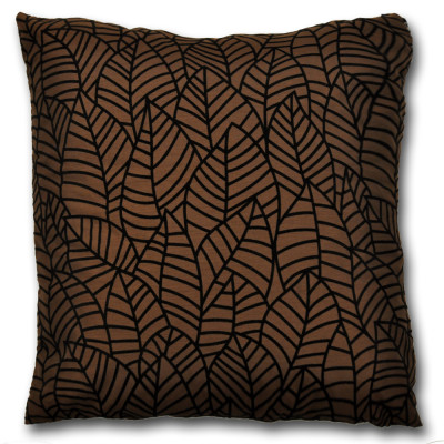 Nevada  Faux Silk Chocolate  Cushion Cover