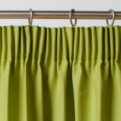 Thermal Blackout Lime Pair of Curtains