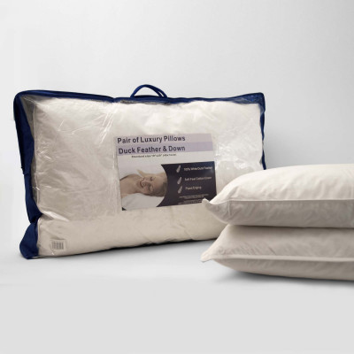 Duck Feather Down Standard Pair of Pillows
