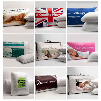 Luxurious Polyester Hollow Fibre Pillows In A Pack Of 4