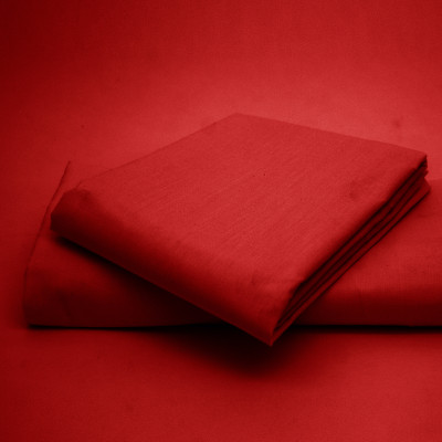 Polycotton Percale Red Housewife Pillow Cases( 180 Thread Count)