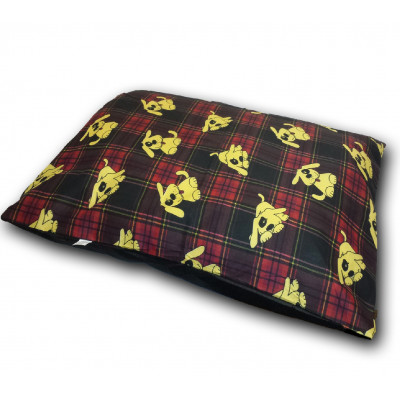 Tartan Red And Black Dog Bed