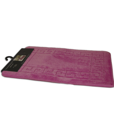 Sarah Pink 2Pc Plain Bath Mat Set