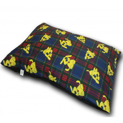 Tartan Blue And Red Dog Bed
