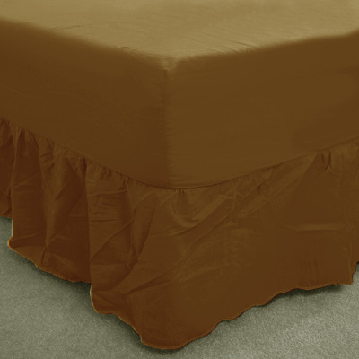 Walnut Percale Fitted Valance (180 Thread Count)