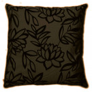 Sarah Faux Silk Brown Cushion Cover