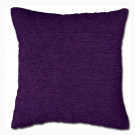 Purple Chenille Polyester Made Cushion Cover