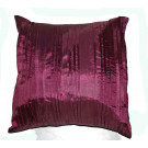 Pleated Faux Silk Mulberry Cushion Cover