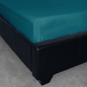 Percale Plain Teal Fitted Sheet (180 Thread Count)