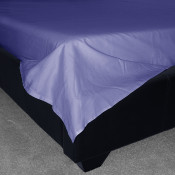 Blue Percale Plain Flat Sheet (180 Thread Count)