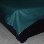 Teal  Percale Plain Flat Sheet (180 Thread Count)