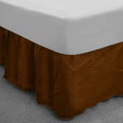 Chocolate Polycotton Base Valance