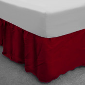 Wine Polycotton Base Valance